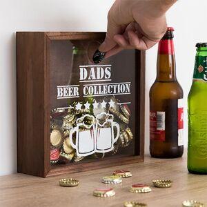 Dekoratívna skrinka na vrchnáky z pivových fliaš