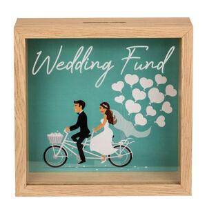 Drevená pokladnička Wedding Fund