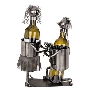 Kovový stojan na víno Marry Me