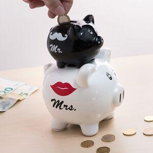 Pokladnička dvojité prasiatko Mr a Mrs