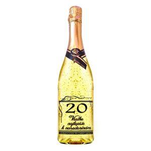 Zlaté šumivé víno 23 karát 0,75 l Narodeniny 20