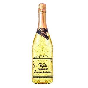 Zlaté šumivé víno 23 karát 0,75 l Narodeniny