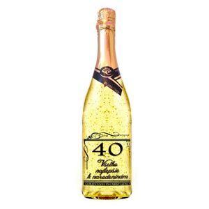 Zlaté šumivé víno 23 karát 0,75 l Narodeniny 40