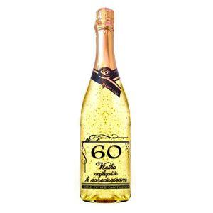 Zlaté šumivé víno 23 karát 0,75 l Narodeniny 60