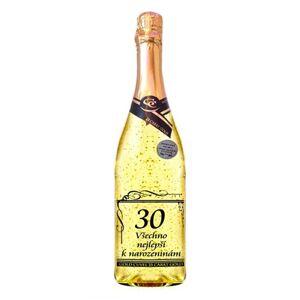 Zlaté šumivé víno 23 karát 0,75 l Narozeniny 30