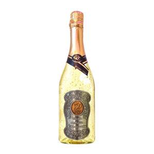 Zlaté šumivé víno 23 karát 0,75 l Narodeniny 50 - kovová etiketa